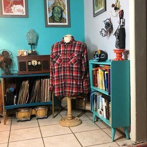 Cabelas Mens Heavy Duty Flannel Shirt Jacket